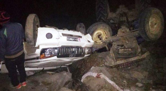 कर्णाली राजमार्ग अन्तरगत दैलेखको डाबमा जीप दुर्घटना