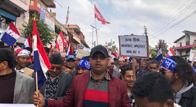 तरुण दलको चेतावनी 'कफन बाँधेर सडकबाटै नेकपा सरकार फाल्छौं'
