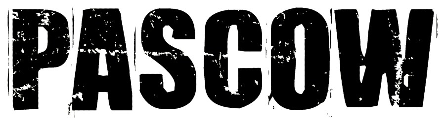 Pascow Schriftzug schwarz gross