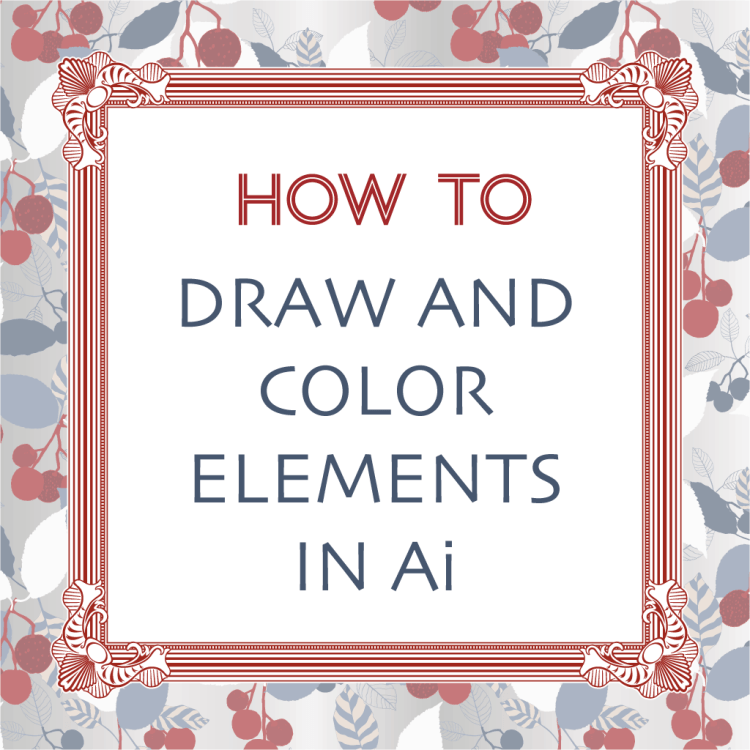 how to draw and color elements in Ai