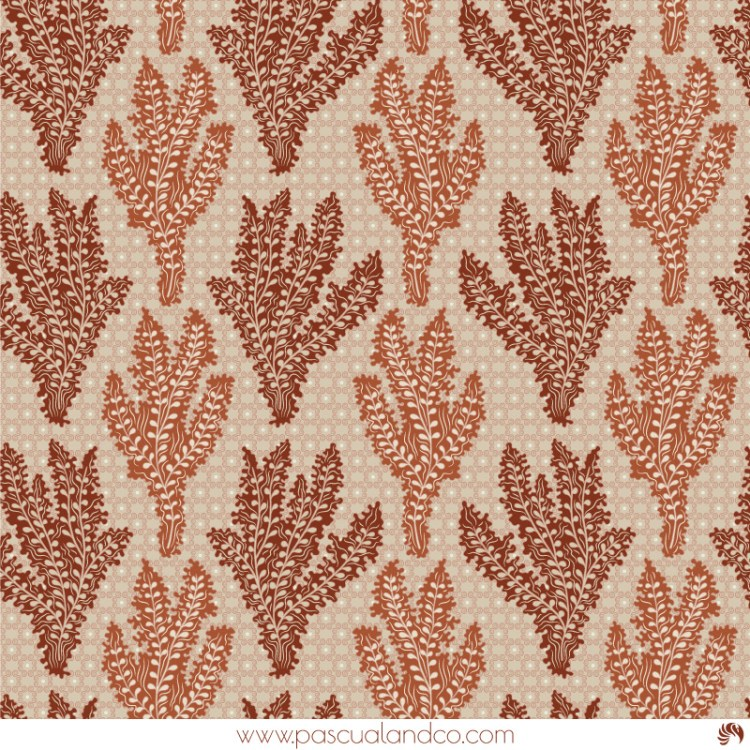 Seaweed, vermicular pattern design created by Pascûal