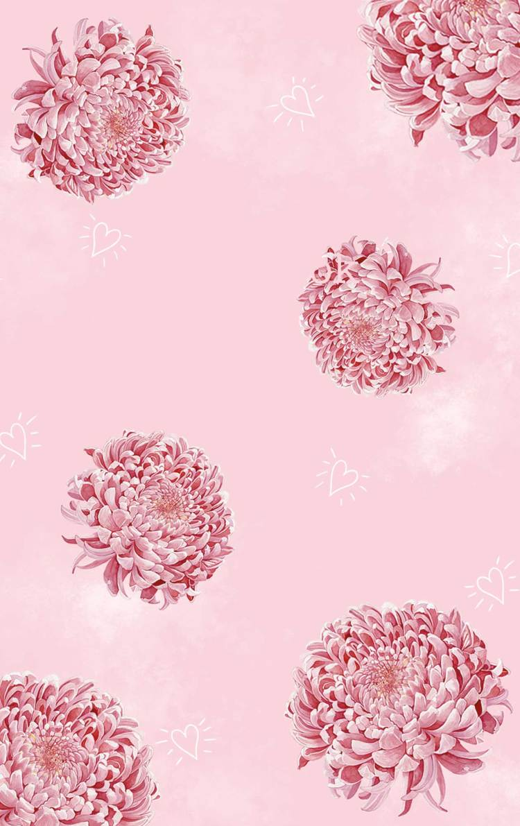 drawing a chrysanthemum with watercolors_pattern