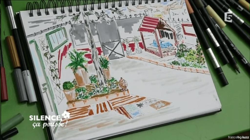dessin jardin ombre
