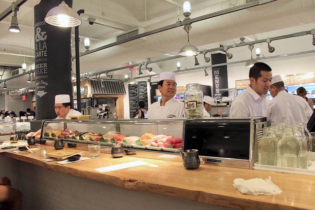 Barra de sushi y sashimi Chelsea Market