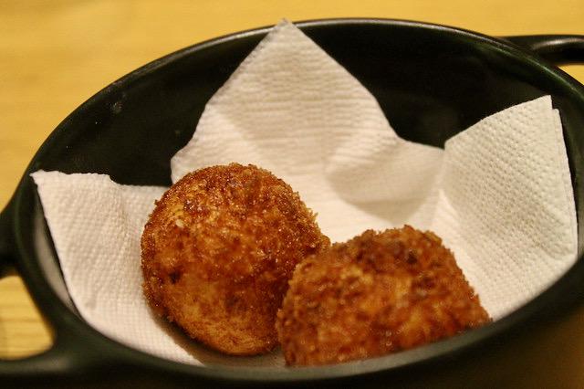 Croquetas de jamón ibérico, en 'La Taberna del Zurdo'