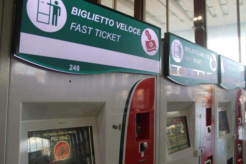 Maquinas expendedoras Termini Roma