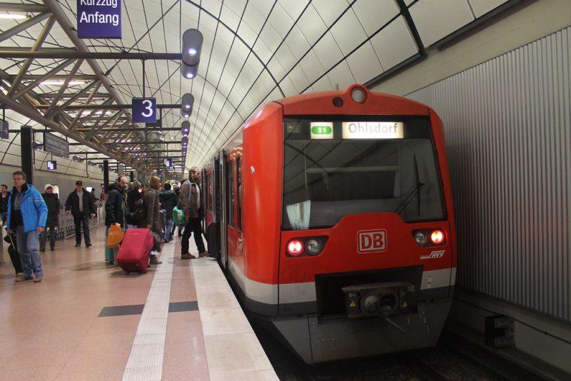 Metro aeropuerto Hamburgo