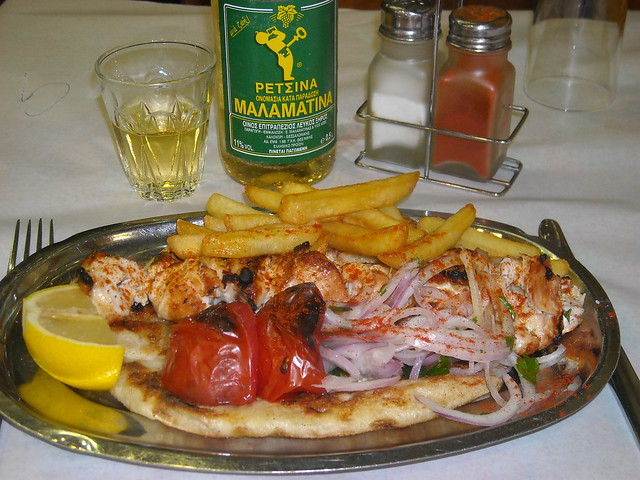 Souvlaki comida griega