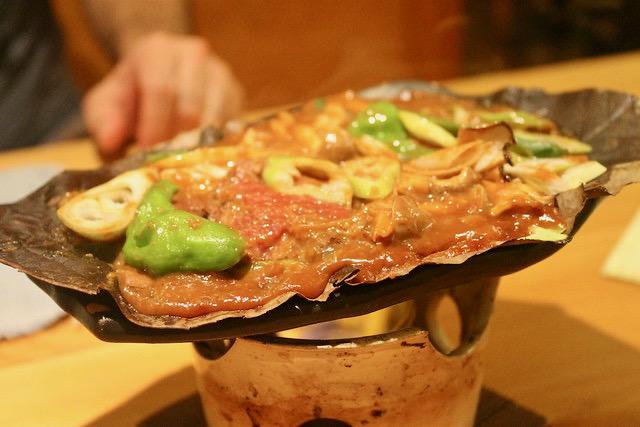 Comida japonesa Ternera de Hida