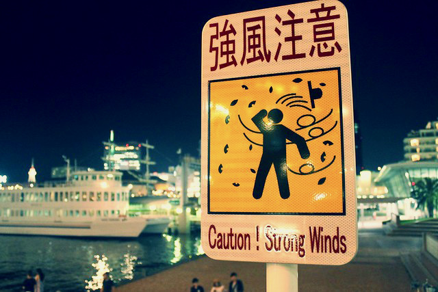 Vientos fuertes Japon