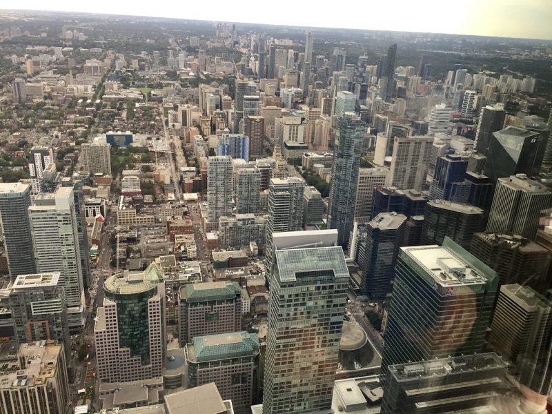 Vistas desde la CN Tower Toronto Canada