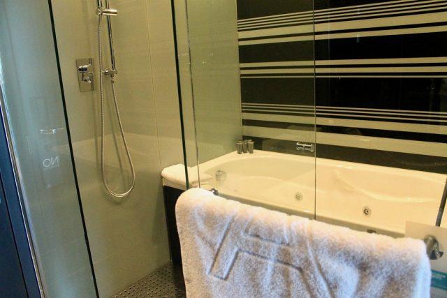 Bañera y doble ducha Hotel Eurostars Palace