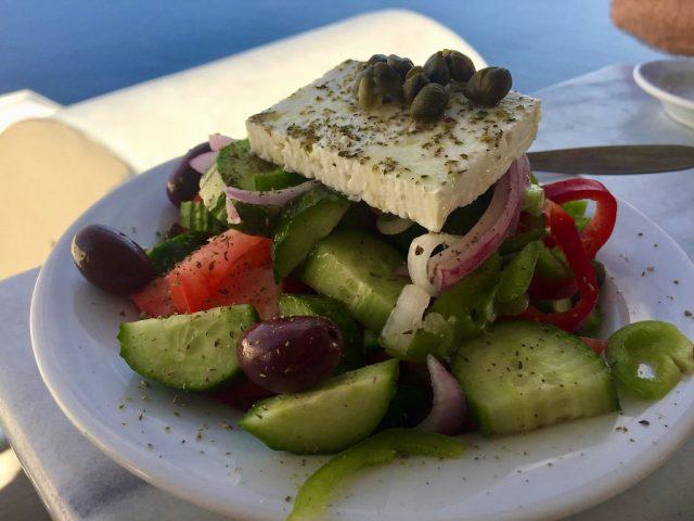 Ensalada griega Restaurante Niki Santorini