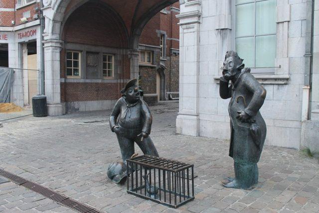 Figuras callejeras Namur Belgica