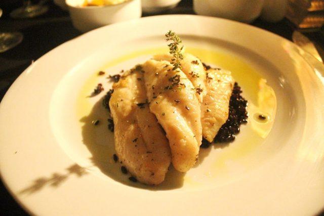 Jonh Dorit filet 'Casablanca' with black rice and curry Rick's Café