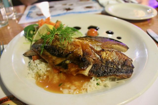 Pan fried mackerel Mc Donagh's Galway