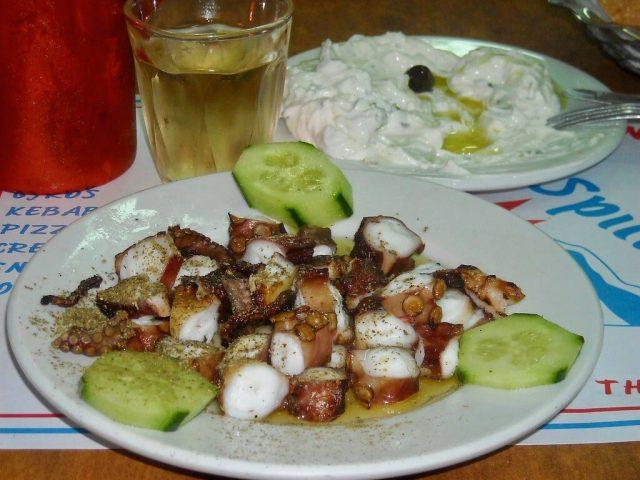 Pulpo a la parrilla Grecia