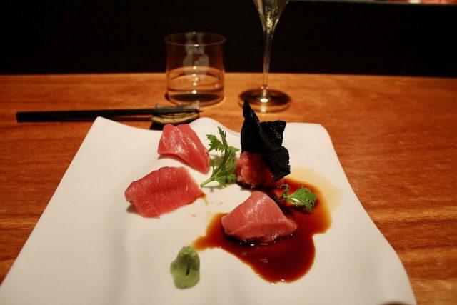 Sashimi de atún Koy Shunka Barcelona