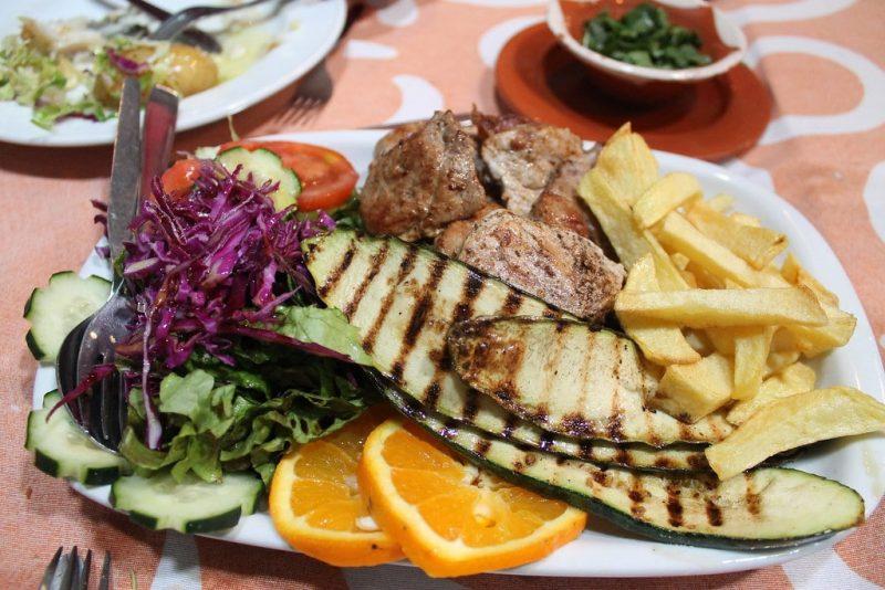 Solomillo de cerdo al whisky Restaurante Sem-Fim Monsaraz Portugal