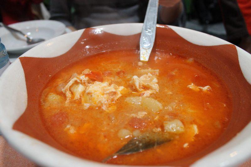 Sopa de tomate Restaurante Sem-Fim Monsaraz Portugal