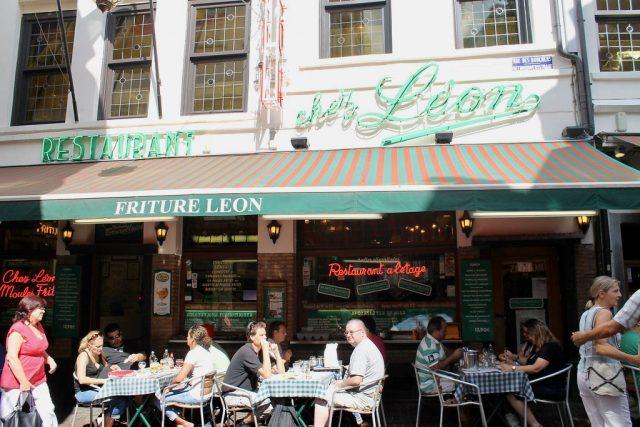 Terraza Chez Léon Bruselas