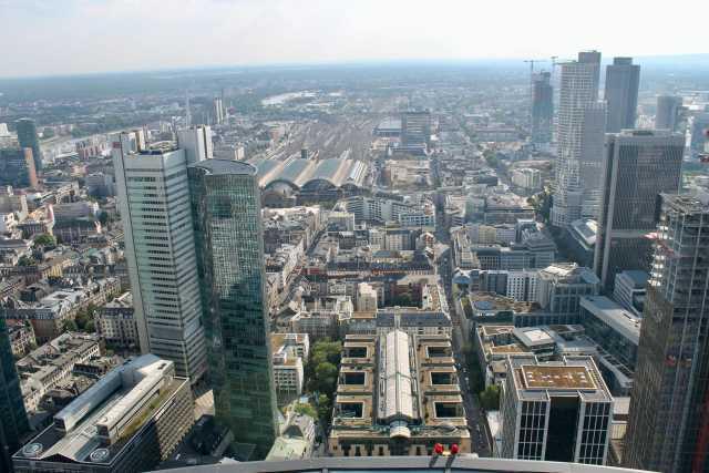 Vistas desde la Torre de Meno Frankfurt
