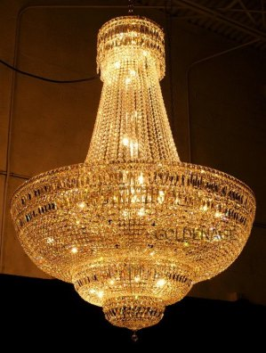 Foyer-crystal-chandelier-gold-plated-free-shipping