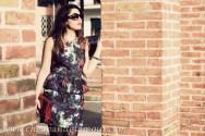 floreal peplum dress- hm- low cost