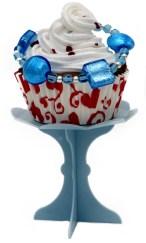 bracciale azurro cupcake