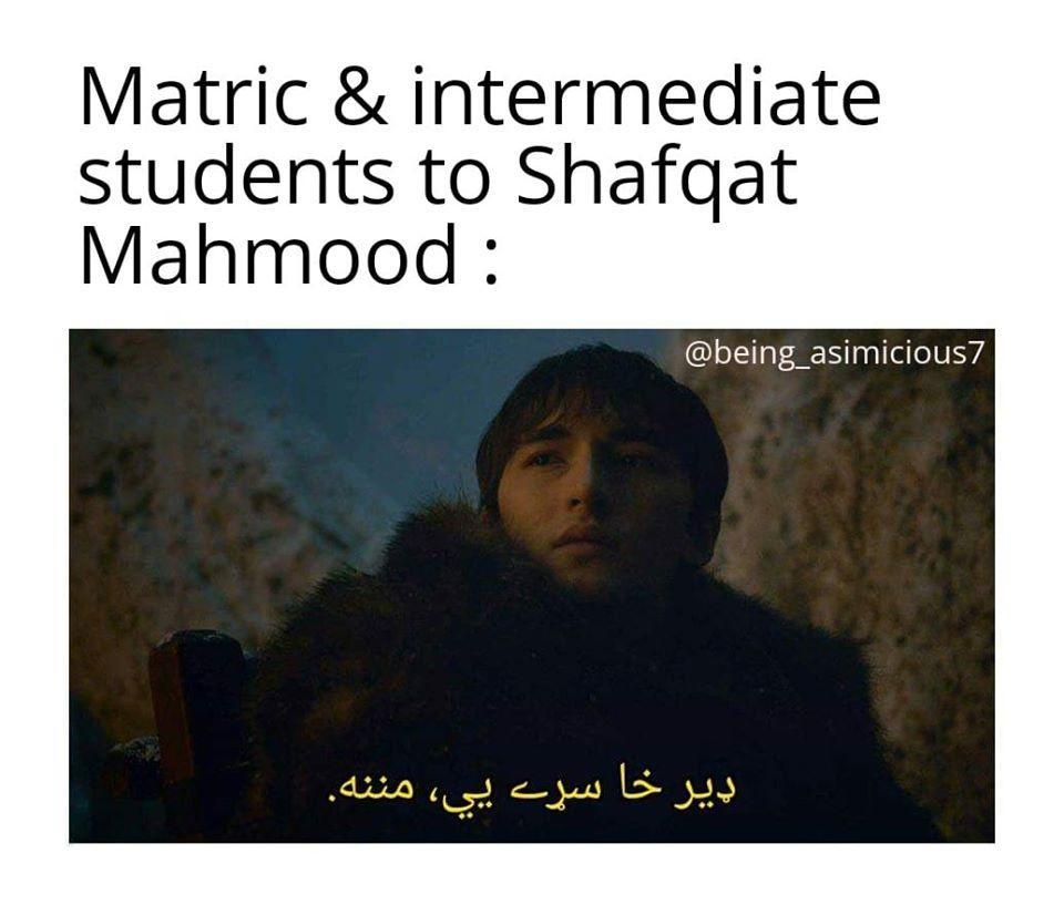 Shafqat Mehmood meme