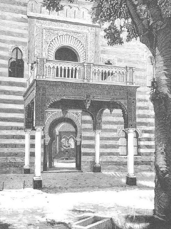 Portada del palacio de Orleans y Borbón en Sanlúcar (siglo XIX), actual sede del ayuntamiento