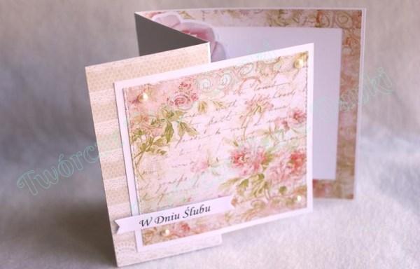 Ślubna kartka składana