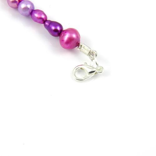 Naszyjnik Liliowe perły - krok 12