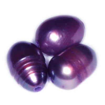 Perełki słodkowodne 4 x 6 mm śliwkowe 10szt.