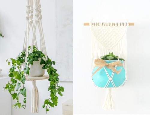 macrame plant hanger gift