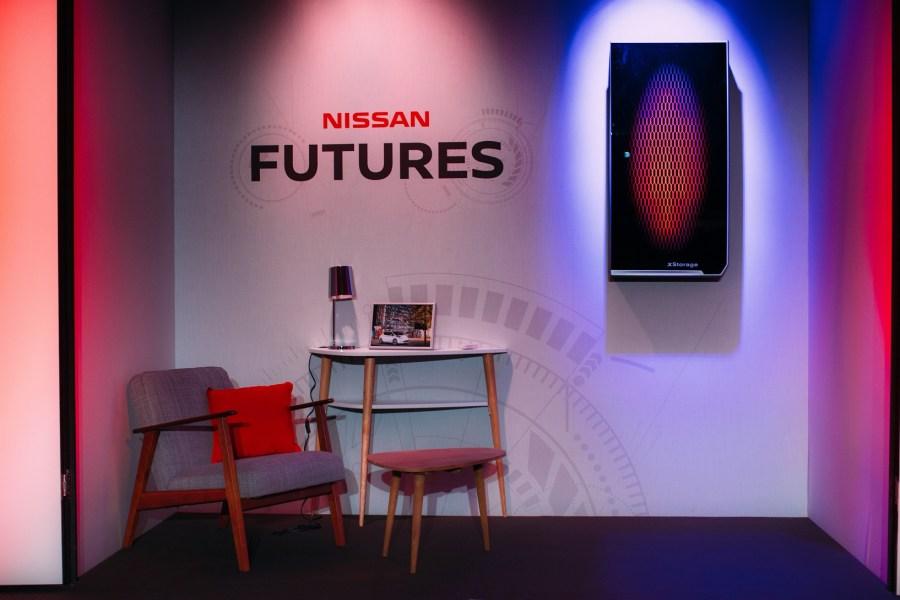 Nissans Energiespeicher (rechts oben im Bild)