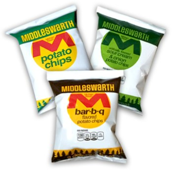Middleswarth chips lunch sized bags