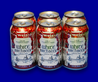 weis white birch beer cans