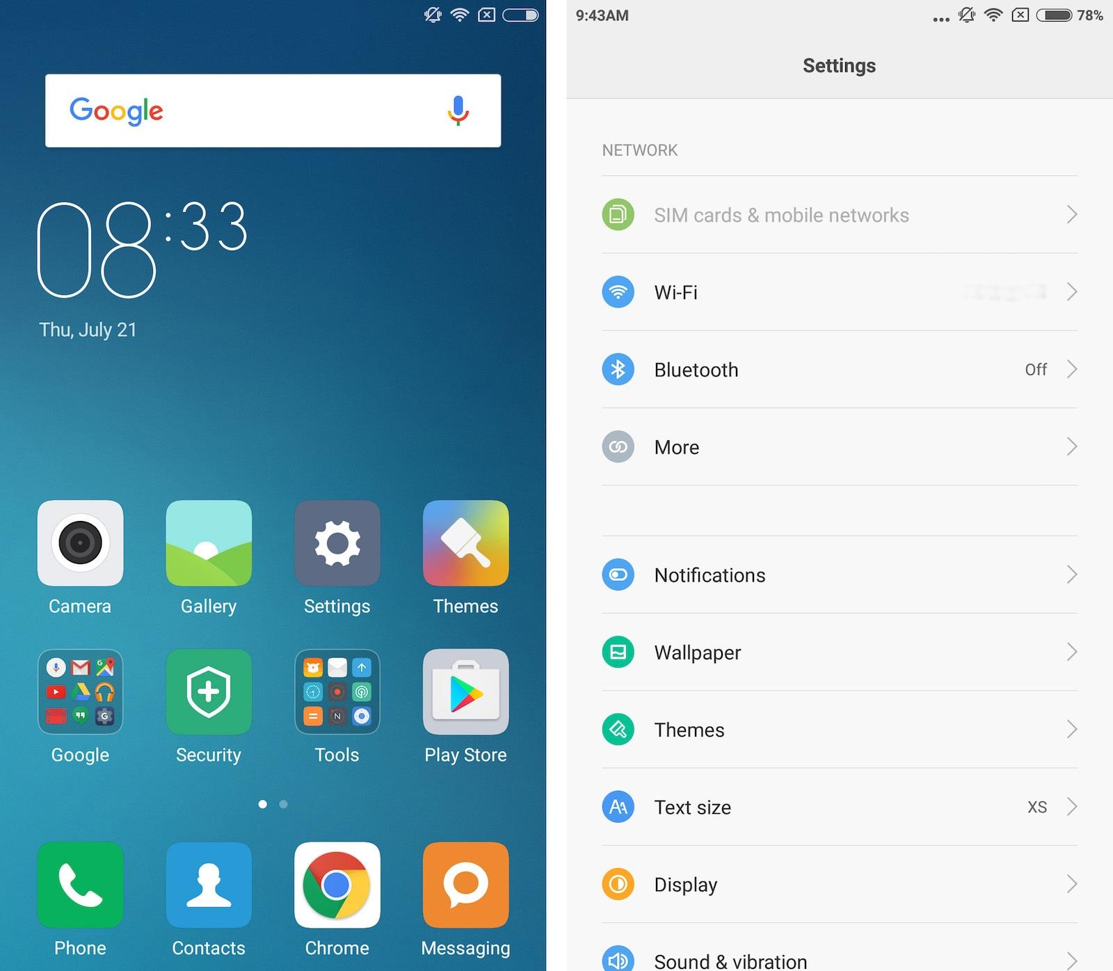 Xiaomi Redmi Note 3 Pro MIUI