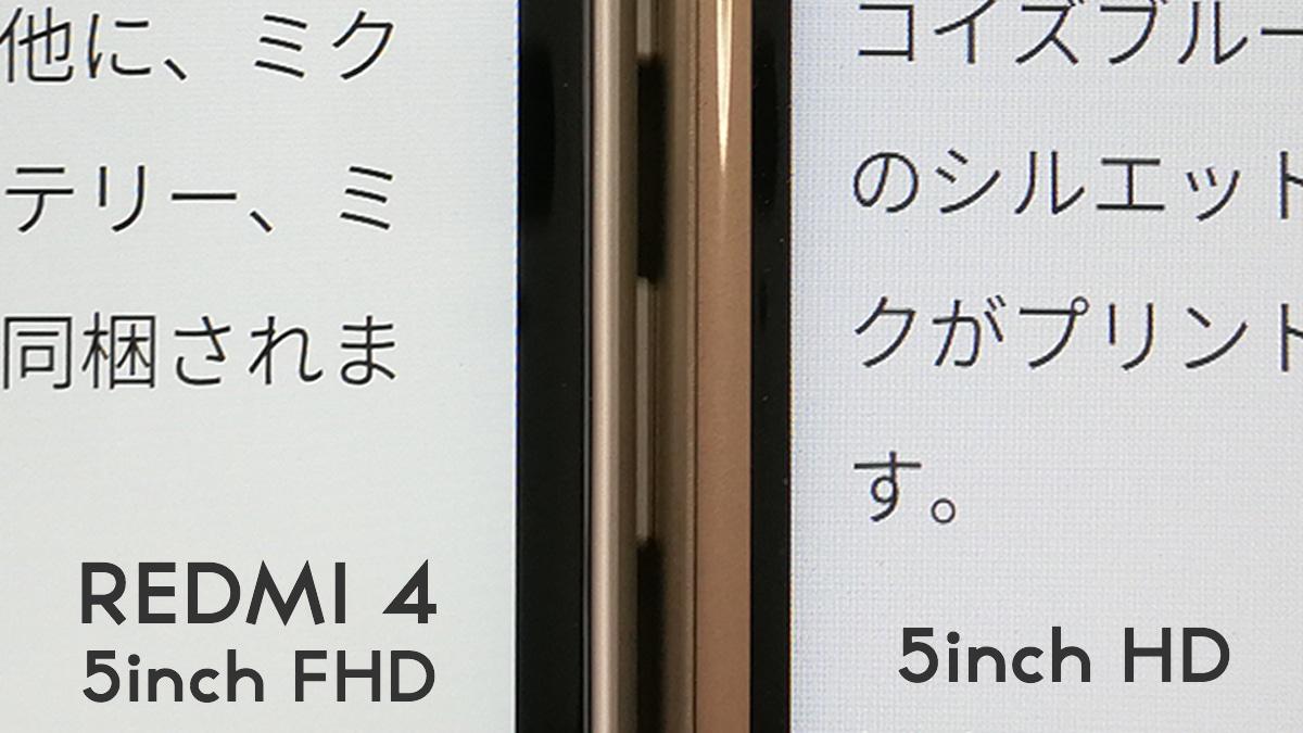 Xiaomi Redmi 4 ピクセル密度