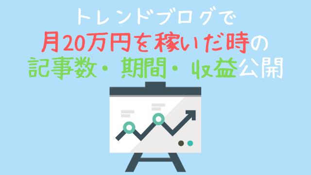 トレンドブログで月20万円