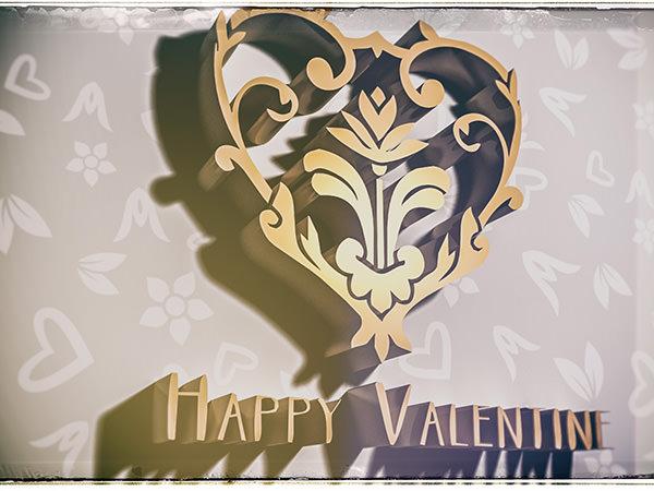 Happy Valentine2 Type5 / 3D ロゴ & テキスト(ヴィンテージフィルム)