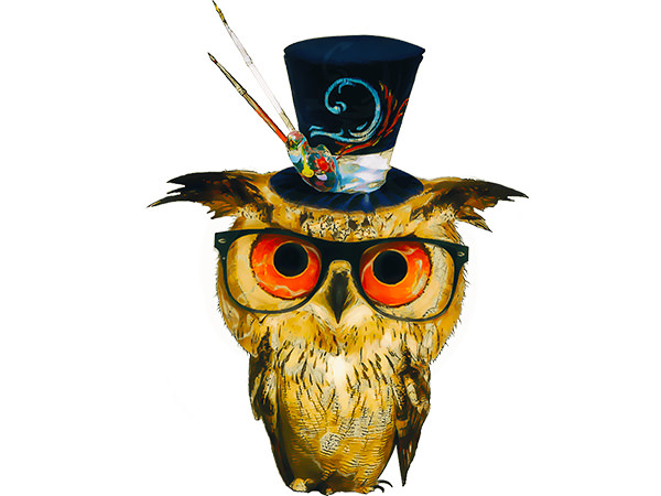 Kawaii Owl Sketch Type6 / 魔術師フクロウ(スケッチ)