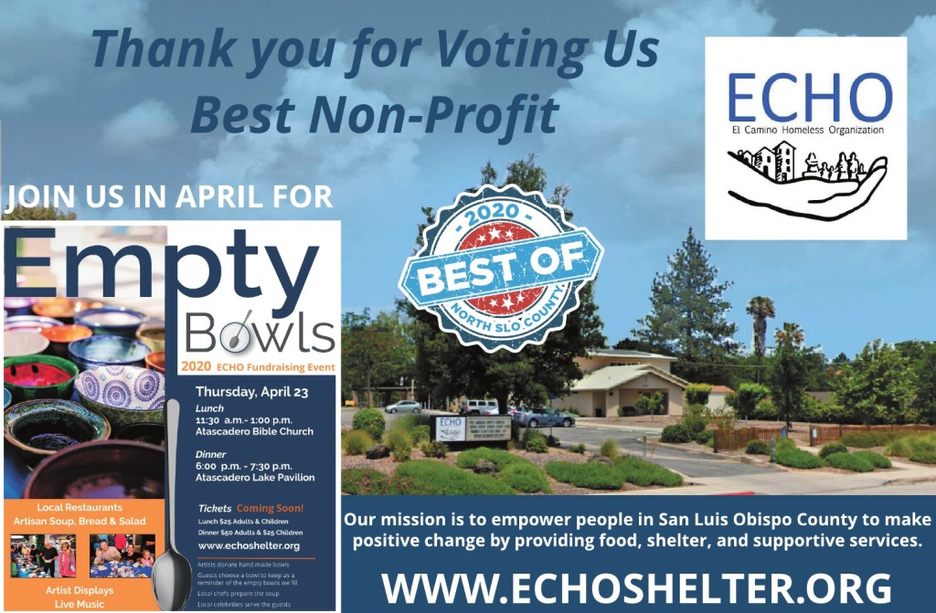 Best Charity or Nonprofit of North SLO County 2020
