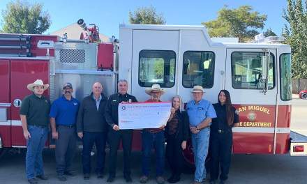San Miguel Fire Receives AED Donation