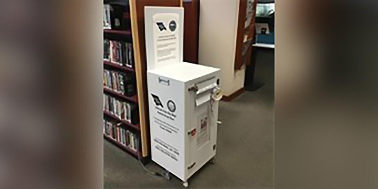 Ballot Drop Box at City Library