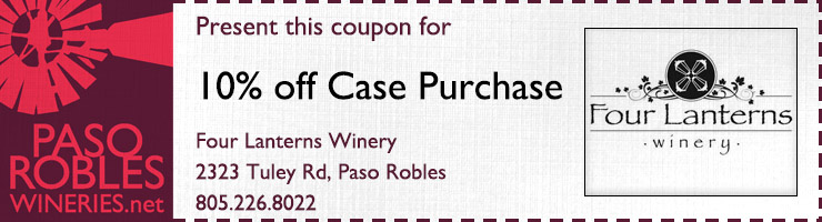 Four Lanterns 10% case purchase coupon