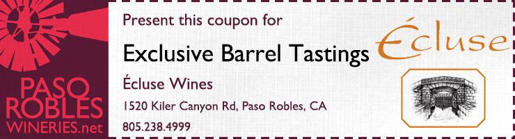 Ecluse Barrel Tasting Coupon