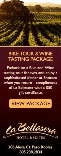 La Bellasera Bike Tour and Wine Tasting Package