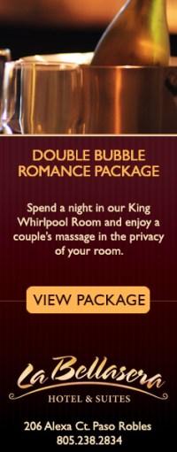 La Bellaserra Double Bubble Romance Package
